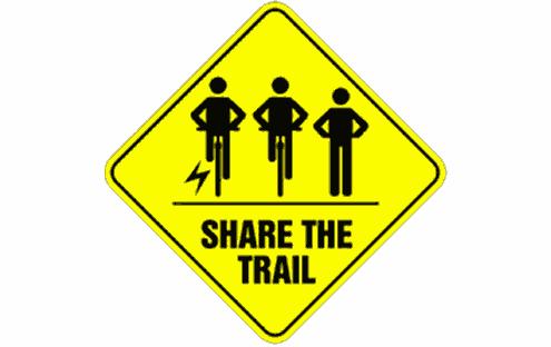 E-bikes on trail